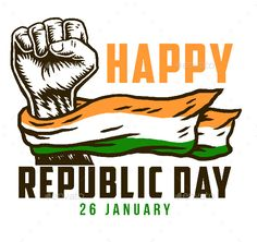 Buy Happy India Republic Day by Amillustrated on GraphicRiver. Happy republic day 26 January with India national flag on fist ZIP archive contains: -Two JPG file formats -One PNG f. Republic Day Images Pictures, Republic Day Photos, Republic Day India, Independence Day Images Download, Happy Independence Day India, Indian Flag Wallpaper, Indian Army Wallpapers, Happy Republic Day Wallpaper, National Flag India