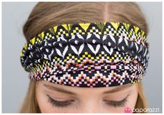 ummer Safari   A blend of warm and cool summer hues dance into a trendy tribal pattern. Featuring a bright yellow diamond pattern, a dash of pink is added to the indigenous pattern creating a feminine twist to the chic design. Features an elastic band for an adjustable fit.  Sold as one individual headwrap.