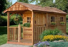 The 8x12 Santa Rosa Garden Shed is an ideal garden shed for mom, a playhouse for the kids, or a retreat for dad. Versatile and functional, this attractive cedar