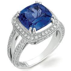 Tanzanite and Pave Diamond Ring - Vanna K at Joseph Jewelry, Bellevue Seattle WA