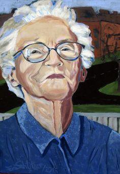 """""""Mutter"""", 80 x 60, Acryl auf Leinen, 2018, Familienbesitz Muse, Portrait, My Works, Linen Fabric, Artworks, Painting Art, Pictures, Headshot Photography, Portrait Paintings"""
