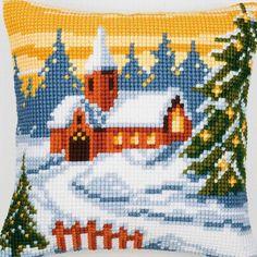 Winter Landscape - Kruissteekkussen - Vervaco