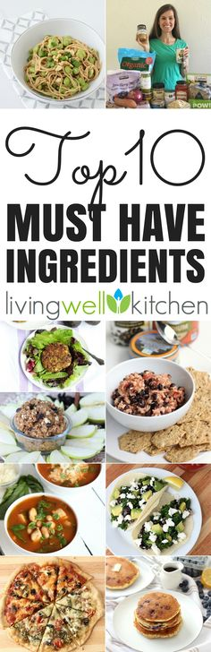Top 10 Must Have Ingredients plus recipe ideas from @memeinge! The 10 healthy ingredients I always have in my kitchen, so I can make a nourishing meal even without a trip to the store. Proof you don't have to leave home to make a healthy dinner