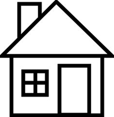 House black and white clip art house outline black and white clipart Art Drawings For Kids, Drawing For Kids, Easy Drawings, Coloring Sheets, Coloring Pages, House Outline, House Clipart, House Template, Clip Art