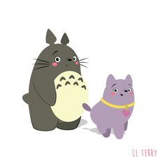 Day 86. Totoro thinks puppies are better than people.