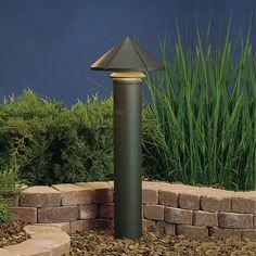 Textured Architectural Bronze Line Voltage One-Light Landscape Path Light