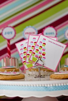 Cupcake baked goods labels - free printable