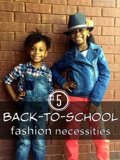 Here are 5 back to school fashion necessities for kids and a wide range of really cool, kid, and parent-approved looks to kick-start the new school year.