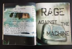 RAYGUN Magazine nr 36 May 1996 ft Rage Against The Machine   Etsy David Carson, Rage Against The Machine, Found Art, Typographic Design, Abstract Styles, Art Director, Magazine Design, Editorial Design, Rock And Roll