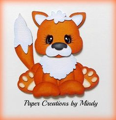Outdoors Fox premade paper piecing scrapbooking page border embellishment