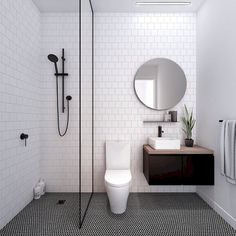 Simple bathroom ideas 2018 best bathroom remodel ideas makeovers design project bathroom bathroom design small and bathroom layout home decorators Bathroom Tile Designs, Bathroom Design Small, Bathroom Layout, Simple Bathroom, Bathroom Interior Design, Master Bathroom, Colorful Bathroom, Budget Bathroom, Bathroom Black