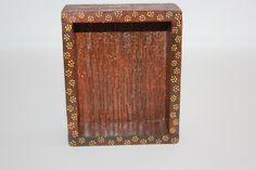 Ahşap eskitme yaldızlı el yapımı kutu
