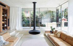 Conversation Piece: The Sunken Lounge | Habitus Living Australian Architecture, Australian Homes, Australian Beach, Habitat Groupé, Windsor House, Sunken Living Room, Bungalow Renovation, Melbourne House, Architecture Awards