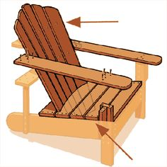 Build your own Adirondack chair in less than a day with our easy-to-follow instructions. | Illustration: Gregory Nemec | thisoldhouse.com |