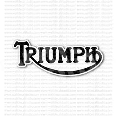 Triumph Motorcycle Sign Sticker for - Stickers Motorcycle Motorcycle Stickers, Motorcycle Posters, Motorcycle Art, Triumph Motorcycles, Cnc, Art Logo, Old Pictures, Rockers, Signs
