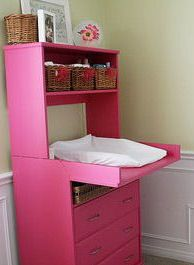 Google Image Result for http://www.unique-baby-gear-ideas.com/images/hot-pink-and-green-nursery-change-table.jpg