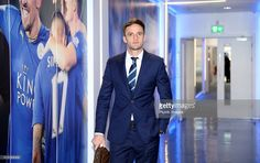 Andy King arrives at King Power Stadium ahead of the Barclays Premier League match between Leicester City and West Bromwich Albion at the King Power Stadium on March 01 , 2016 in Leicester, United Kingdom.