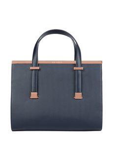 Metallic bar tote bag - Navy | Bags | Ted Baker UK