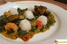 Delicious Nigerian Okra Soup with cute Agidi <3