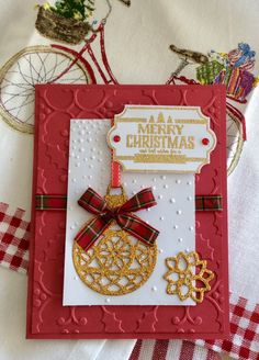 Ornament card Stampin up