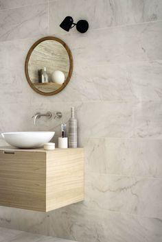 Allmarble - Marble effect stoneware Tiles Uk, House Tiles, Marble Tiles, Bathroom Layout, Bathroom Interior Design, Marazzi Tile, Contemporary Bathroom Designs, Marble Effect, Outdoor Flooring