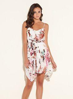 Ashley Chroma Floral-Printed Dress (Milk Multi). Guess. $108.00