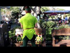 Peter Pan reading to Peter Pans at Disneyland.