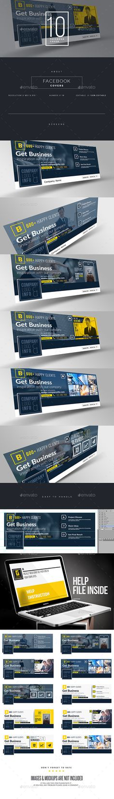 Corporate Facebook Timeline Covers Templates PSD #design Download: http://graphicriver.net/item/corporate-facebook-timeline/11140007?ref=ksioks
