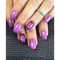 Valentines Heart Acrylics Nails