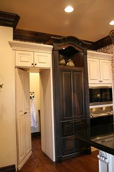 Hidden door to pantry  --hidden door to hallway--?