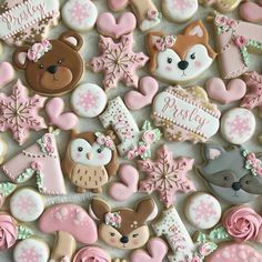 Boho winter ONEderland for for a sweet little snowflake❄💖🐻 Baby Cookies, Baby Shower Cookies, Royal Icing Cookies, Iced Cookies, December Baby Shower Ideas, First Birthday Cookies, 30th Birthday, Little Snowflake, Christmas Sugar Cookies