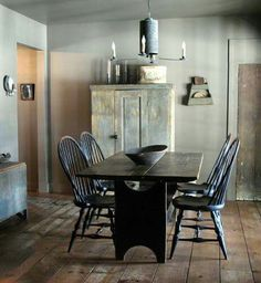 Primitive table + chairs