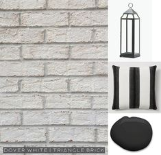 Dover White brick from Triangle Brick paired with Black Magic SW 6991