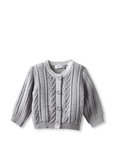 65% OFF Bonnie Baby Cable Knit Cardigan (Grey Melange)