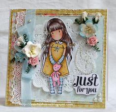 The Crafty Side Of Me....: DT Quixotic Paperie - A Gorjuss Forget Me Not