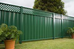 75 Easy Cheap Backyard Privacy Fence Design Ideas - Bailee News Backyard Privacy, Backyard Fences, Backyard Landscaping, Backyard Ideas, Garden Ideas, Garden Fences, Metal Garden Fencing, Decorative Garden Fencing, Metal Fences