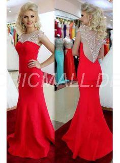 chicmall.de lieferungensexy meerjungfrauen ballkleid rote friesen abendkleid Elegante Abendkleider