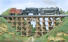 "model train trestles | My trestles are made the old fashioned way"" By Hand """
