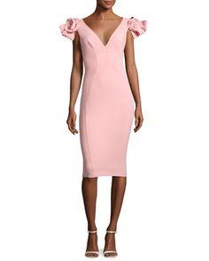 Belvis Rosette Bodycon Dress, Pink by La Petite Robe di Chiara Boni at Neiman Marcus.