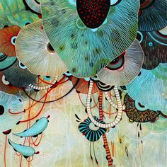 Yellena James. Wonderfully mesmerizing illustrations in acrylic as well as pen and ink. www.yellena.com