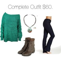 Cute Affordable Fall Outfit by sarabray on Polyvore featuring polyvore fashion style Hue Croft & Barrow
