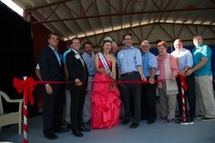 Our Fair Queen Rachel Bennicoff cuts the ribbon during Opening Ceremony Tuesday August 26. #1infairfun #allentownfair #fairqueen #OpeningCeremony
