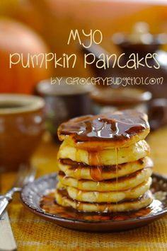 The flavors of fall are upon us and these delectable Pumpkin Bourbon Pancakes are delectable for breakfast, lunch or dinner!