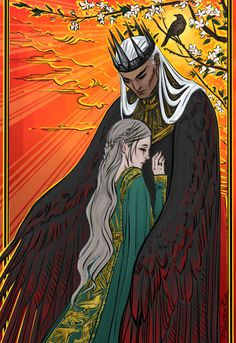 """Lark & Tiras (""""The Bird and The Sword"""" by Amy Harmon) (caught myself thinking of Howl at least a hundred times lol:)"""