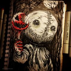 With Halloween steadily approaching, I've decided to dedicate the rest of INKtober to some of my favorite horror films! Sam from Trick R' Treat was one of the creepiest little...
