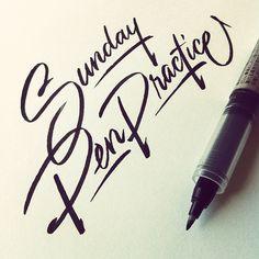 Even on weekends #lettering #handlettering #script  (Taken with Instagram)