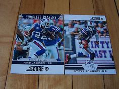 2012 Score Buffalo Bills Lot w/Glossy Parallel Insert FRED JACKSON STEVE JOHNSON