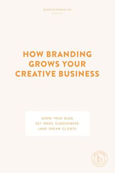 (9) Learn how to grow your creative business with an effective brand identity design. | Becky Kinkead Branding Tips & Business Advice | Pinterest