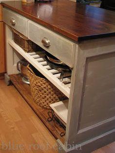 DIY kitchen island from a dresser