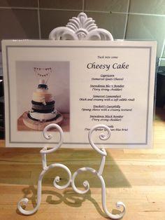 Cheese cake stand